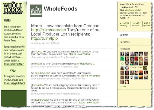 Whole Food Twitter Profile